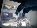 Definitely scary - top of Sky Tower (like Space Needle)
