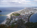 Looking down SE from Mt. Maunganui